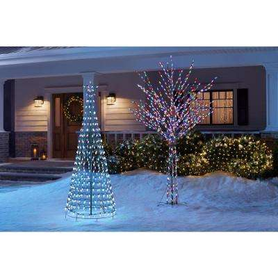 6 ft LED Pre-Lit Cone Tree with Star