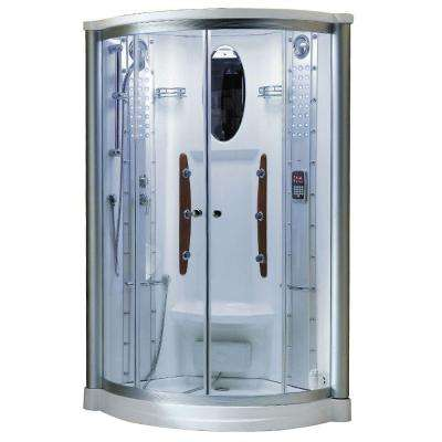 38 in. x 38 in. x 85 in. Steam Shower Enclosure Kit in White