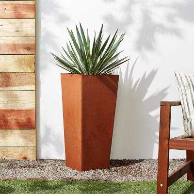 Contempo Tall Square 13 in. x 13 in. x 28 in. Terra Cotta PSW Pot
