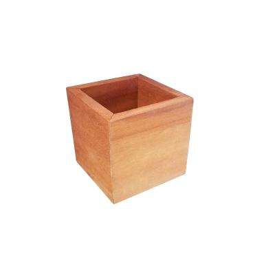 4 in. x 4 in. x 4 in. Square Succulent Wood Planter