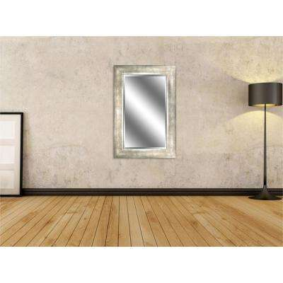 Reflection 24 in. x 36 in. Bevel Style Framed Champagne Finish Mirror