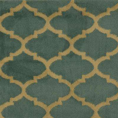 Paterson Collection Contemporary Moroccan Trellis Design Sage Green 8 ft. x 10 ft. Area Rug