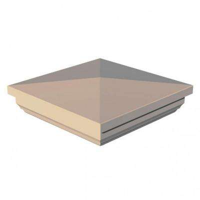 4 in. x 4 in. Vinyl Sand New England Post Cap