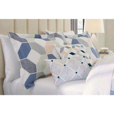 Pratt 5-Piece Reversible Cameo Pink Geo Comforter Set