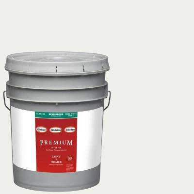 5-gal. #HDGY56 White On White Semi-Gloss Latex Interior Paint with Primer