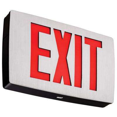 Polycarbonate Red Letter LED Exit Sign