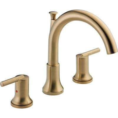 Trinsic 2-Handle Deck-Mount Roman Tub Faucet Trim Kit in Champagne Bronze (Valve Not Included)