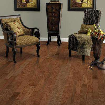 Raymore Oak Gunstock 3/4 in. Thick x 5 in. Wide x Random Length Solid Hardwood Flooring (19 sq. ft. / case)
