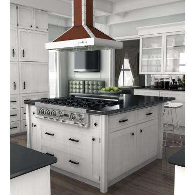 ZLINE 36 in. Island Mount Range Hood in Copper