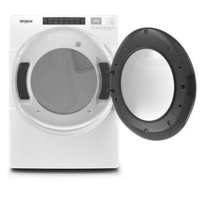 7.4 cu. ft. 240-Volt White Electric Vented Dryer with Intuitive Touch Controls, ENERGY STAR