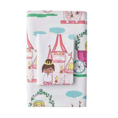 Pretty Princess 200-Thread Count Cotton Percale Fitted Sheet
