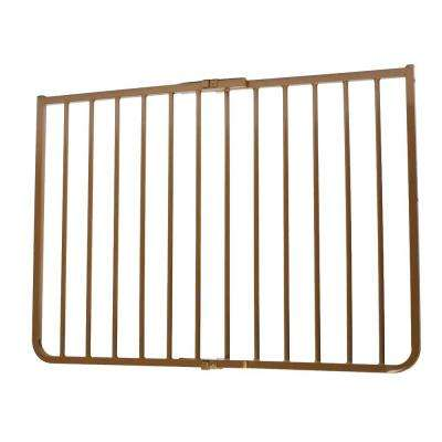30 in. H x 27 in. to 42.5 in. W x 2 in. D Stairway Special Outdoor Safety Gate in Brown