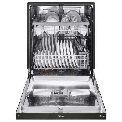 Front Control Built-In Tall Tub Dishwasher in Black with Stainless Steel Tub, 48 dBA