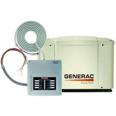 7,000-Watt Air Cooled Automatic Standby Generator with 50 Amp 8-Circuit Transfer Switch and Whips