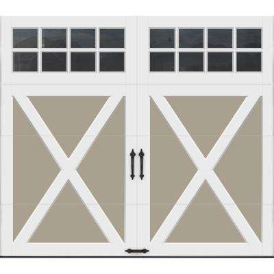 Coachman Collection 8 ft. x 7 ft. 18.4 R-Value Intellicore Insulated Sandtone Garage Door with SQ24 Window