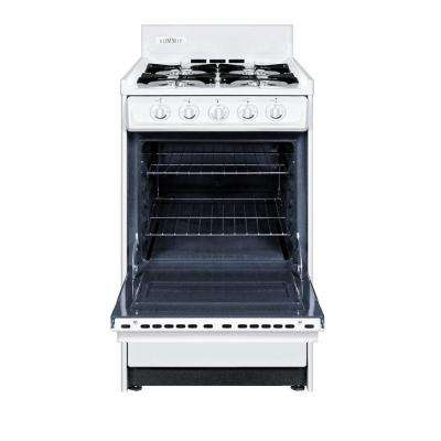 20 in. 2.46 cu. ft. Gas Range in White