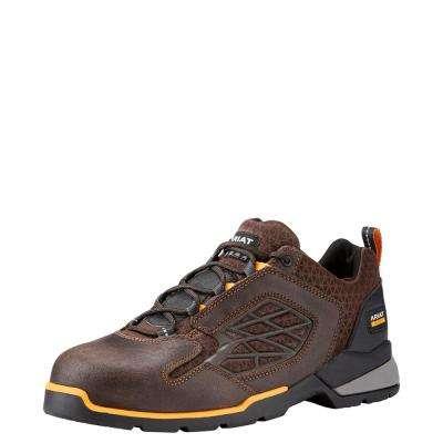 Men's Chocolate Brown Rebar Flex Lo Composite Toe Work Shoe