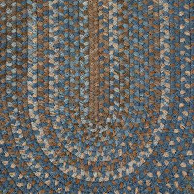 Newport Harbor Blue 6 ft. x 9 ft. Braided Oval Area Rug