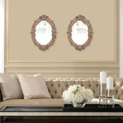 17 in. x 23 in. Champagne Silver Framed Mirror