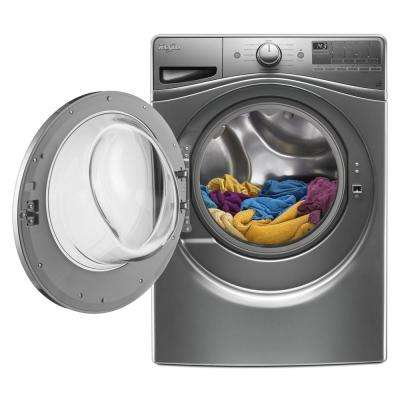 4.5 cu. ft. Front Load Washer with 12-Hour FanFresh Option in Chrome Shadow, 11 Cycles