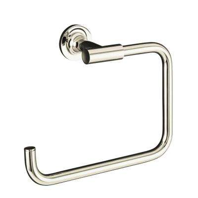 Purist Towel Ring in Vibrant Polished Nickel