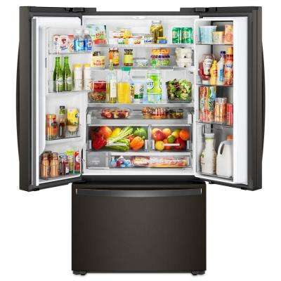 24 cu. ft. Smart French Door Refrigerator in Black Stainless, Counter Depth