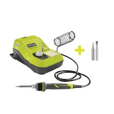 18-Volt ONE+ Hybrid Soldering Station (Tool-Only) with extra Fine Point and Chisel Point Soldering Tips