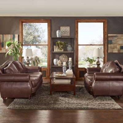 Kelvington 3-Piece Chair, Loveseat and Sofa Set in Chocolate