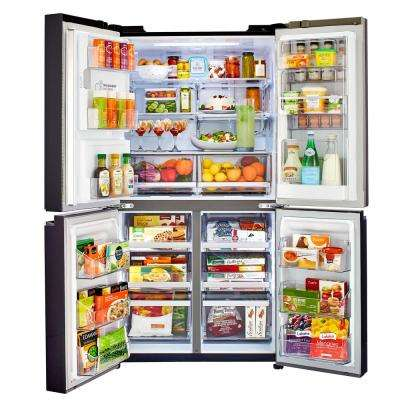 22.7 cu. ft. French Door Smart Refrigerator with Wi-Fi Enabled in Black Stainless Steel, Counter Depth, ENERGY STAR