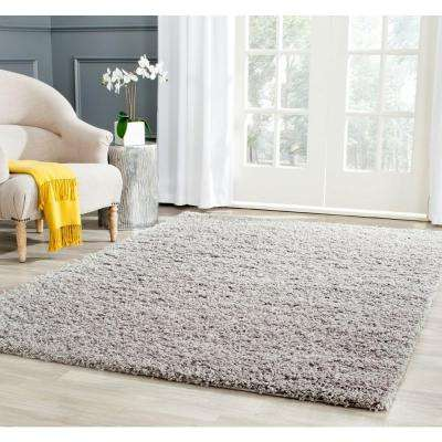 Athens Shag Light Gray 8 ft. x 10 ft. Area Rug