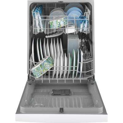 24 in. Front Control Built-In Tall Tub Dishwasher in White, 59 dBA