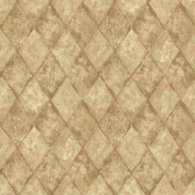 56 sq. ft. Beige Diamonds Wallpaper
