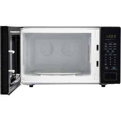 Carousel 1.1 cu. ft. Countertop Microwave in Black