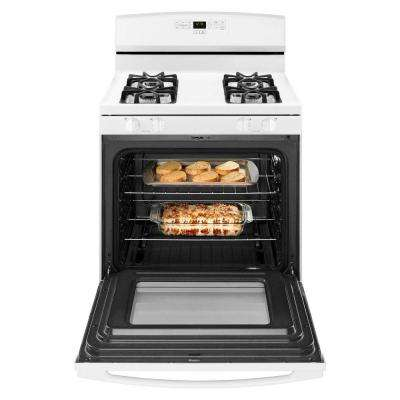 30 in. 5.0 cu. ft. Gas Range in White