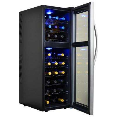 Dual Zone 13.6 in. 27-Bottle Wine Cooler