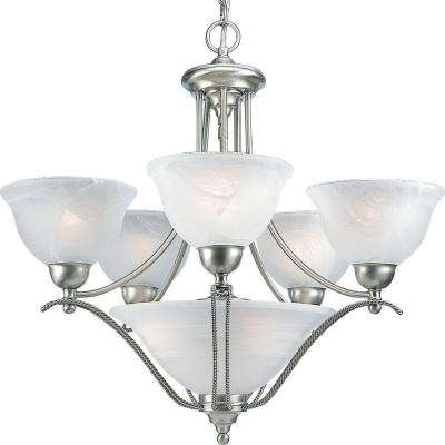 Avalon Collection 5-Light Brushed Nickel Chandelier