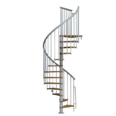 Nice1 51 in. Grey Spiral Staircase Kit