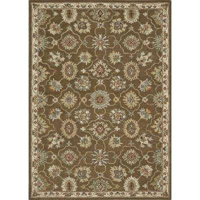 Fairfield Lifestyle Collection Brown/Ivory 7 ft. 6 in. x 9 ft. 6 in. Area Rug