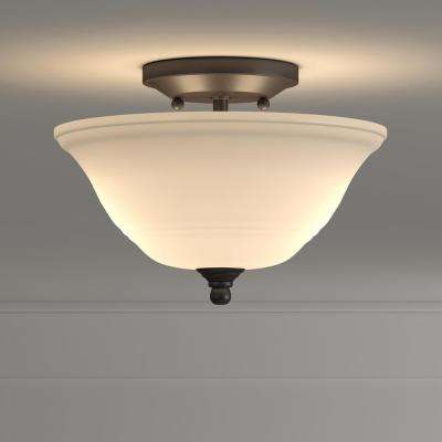 Wensley 2-Light Oil Rubbed Bronze Ceiling Fixture