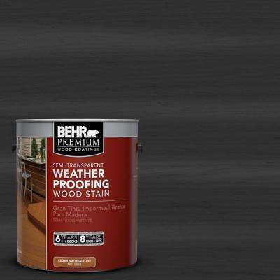 1-gal. #ST-102 Slate Semi-Transparent Weatherproofing Wood Stain