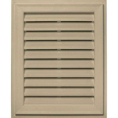 20 in. x 30 in. Brickmould Gable Vent in Light Almond