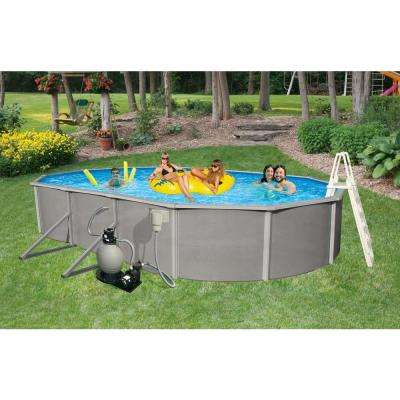 Belize Oval Above Ground Pool Package 52 in. Deep