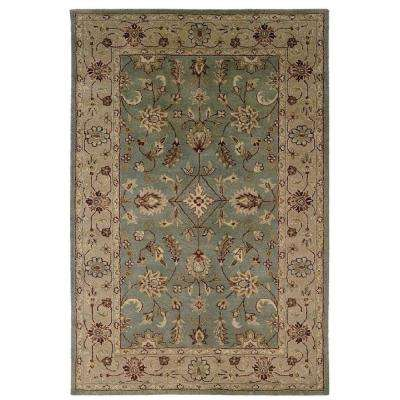 Rosedown Collection Patina and Gold 5 ft. x 8 ft. Indoor Area Rug