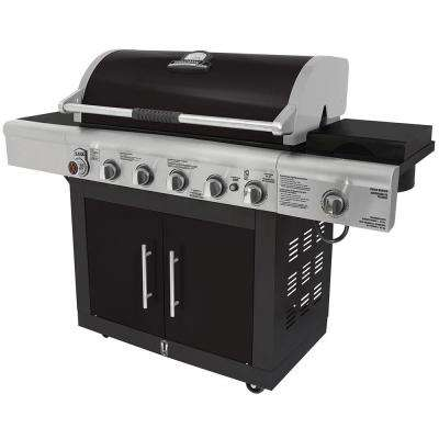 6-Burner Gas Grill in Black