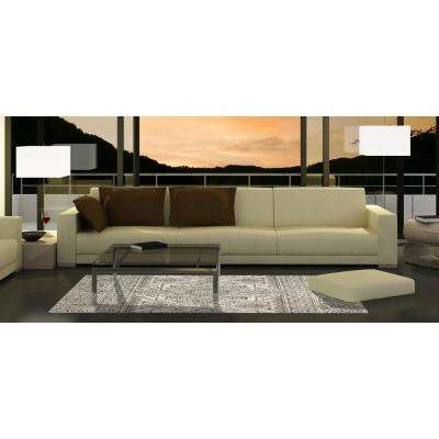 New Casa Aubosson Grey 5 ft. x 7 ft. Area Rug