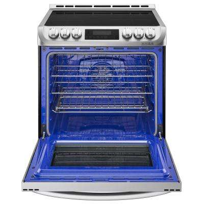 6.3 cu. ft. 30 in. Slide-In Electric Range with ProBake Convection, Induction and EasyClean Oven in Stainless Steel