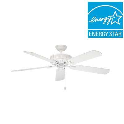 Ainsworth 60 in. Indoor Cottage White Ceiling Fan with light