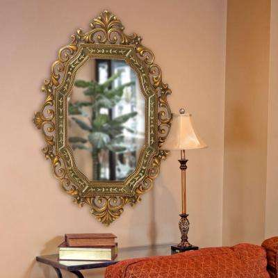 30 in. W x 40 in. H Ariana Gold Mirror