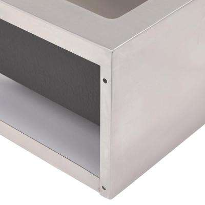Farmhouse Apron Front Freestanding Stainless Steel 33 in. Single Bowl Kitchen Sink