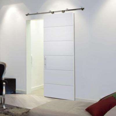 36 in. x 84 in. Melrose Primed Solid Core Interior Barn Door Slab